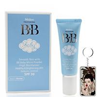 Kem nền Mistine BB Baby Face Cream Thái Lan 15ml (Tone tự nhiên) tặng móc khóa