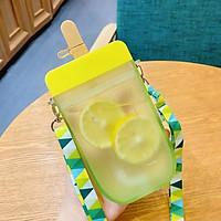 Bình nước nhựa ABS mềm trong suốt kèm ống hút