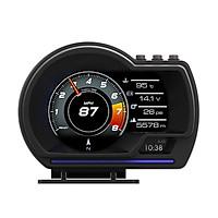 Car HUD Display, OBDⅡ+GPS Smart Gauge High Definition Speedometer Car Diagnostic Tool OBD Fault Code Elimination Safe