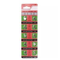 Vỉ 10 pin đồng hồ  phổ thông AG4 - 626 - 377A