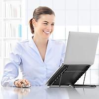 Giá đỡ máy tính bảng, máy tính xách tay US05 dạng lưới thông gió di động có thể gập lại- Hàng chính hãng