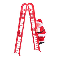 Santa Claus Climbing Ladder Somersault Battery Operated Electric Climb Up and Down Double Ladder Climbing Santa Turn a