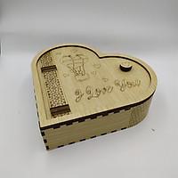 Hộp gỗ hình trái tim