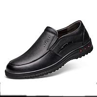 Giày da nam giày da bò nam giày nam giày cho bố giày trung niên cao cấp thời trang phong cách Hàn Quốc mã T26555 tặng kèm 1 chiếc vòng đeo tay gỗ quý ngẫu nhiên