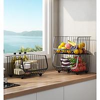 Giỏ đựng hoa quả - Giỏ chứa đồ nhà bếp đa năng KN 499 [Giỏ 1 tầng]