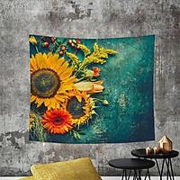 Tranh vải treo tường hình hoa hướng duogw màu sắc độc đáo có hai kích thước