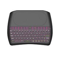 Bàn phím Bluetooth mini kết hợp bàn di chuột đa phương tiện D8 có đèn nền 2.4G