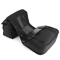 Leather Motorbike Touring Saddle Bag Waterproof Motorcycle Canvas Panniers Box