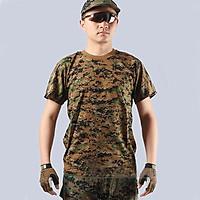 Áo Thun Nam Rằn Ri Lính Mỹ - Áo Phông Nam cotton Quân Đội