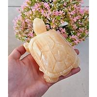 Cụ Rùa bằng đá Thạch anh vàng size 12cm