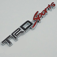 Chữ nổi kim loại TRD - sport dán xe ô tô