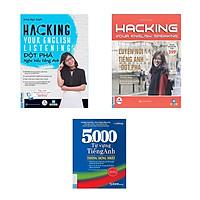 Trọn bộ sách Hacking Your Speaking + Listening English (Tặng kèm 5000 Từ Vựng Tiếng Anh Thông Dụng Nhất)