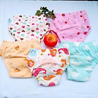 Combo 5 Quần bỏ bỉm cao cấp vải cotton 6 lớp siêu thấm hiệu Goodmama cho Bé Gái từ 5-17 kg.