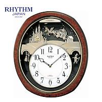 Đồng hồ treo tường Nhật Bản Rhythm 4MH762WD23 - Kt 36.0 x 41.0 x 7.0cm, 3.0kg, dùng PIN.