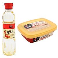 Combo Dấm Táo Beksul 500ml + Tương ớt Daesang Cao Cấp Hàn Quốc 200g