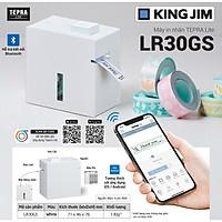 Máy in nhãn không dây Tepra Lite KINGJIM LR30GS in bằng điện thoại - HÀNG CHÍNH HÃNG