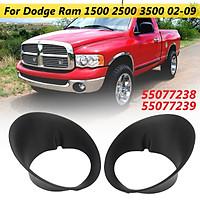 Pair Fog Light Lamp Frame Bezel For Dodge Ram 1500 2500 3500 2002-2009 #55077238