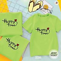 Áo Thun Gia Đình Happy Time - Có Nhiều Màu - Thun Cotton (GD315BM2)