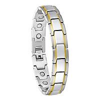Men Stainless Steel Bracelet Magnetic Link Chain Wristband Bracelet Bangle