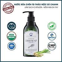 Nước Rửa Chén Tinh Dầu Thảo Mộc Hữu Cơ Organic PK 300ML - Hương thơm tinh dầu dịu nhẹ - Mềm mại cho da tay mẹ, an toàn cho bé.