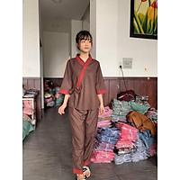 Đồ Lam Đi Chùa # Nhật Nơ Phối Vải Cao Cấp # Quần Áo Nữ # Đồ Bộ Nữ