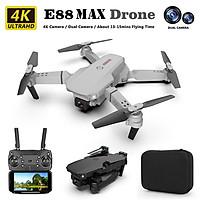 Máy bay flycam mini E88 Max với 2 camera HD 4K truyền ảnh trực tiếp về điện thoại cân bằng độ cao ổn định khi bay