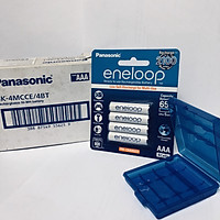 Pin sạc vỉ 4 viên pin Panasonic Eneloop AAA BK-4MCCE/2B-V-Hàng chính hãng