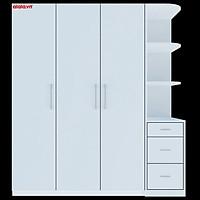 Tủ quần áo Cao Cấp alala.vn màu trắng - Thương hiệu alala.vn (1m8 x2m)
