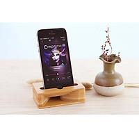 Giá đỡ điện thoại để bàn khuyếch đại âm thanh bằng tre Tự Nhiên