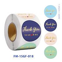Cuộn 500 Miếng Dán In Logo Thank You Chống Thấm Nước