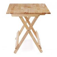 Bàn cafe mặt liền 60x60cm màu gỗ tự nhiên