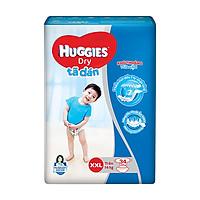 Tã dán Huggies Dry Jumbo XXL 34 (Trên 14kg) - Gói 34 miếng