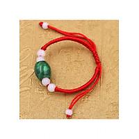 Vòng đeo tay tết dây đá cẩm thạch TD2 - Vòng tay chỉ đỏ may mắn