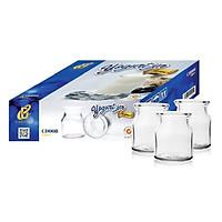 Combo 24 Hũ Lọ Thủy Tinh Làm Sữa Chua Nắp Thiếc CAMDACO (100ML)