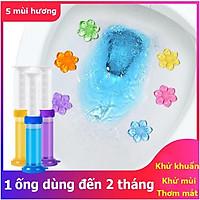 Gel thơm KHỬ TRÙNG, KHỬ MÙI, DIỆT KHUẨN toilet tiện dụng thông minh với 5 loại hương thơm dễ chịu cho nhà vệ sinh