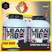 Combo Thực phẩm chức năng Lean Pro 8 (45 lần dùng), Nguồn protein cao cấp trải dài nuôi dưỡng cơ bắp liên tục - Kèm bình lắc 600ml (Màu ngẫu nhiên)