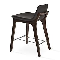 Ghế Bar Pera đệm chân gỗ thiết kế hở lưng thanh lịch