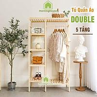 TỦ TREO QUẦN ÁO GỖ THÔNG DOUBLE HANGER Dài 85 x Cao 150 x Rộng 35cm