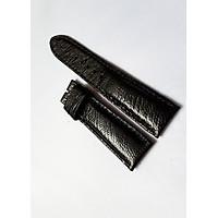 Dây đồng hồ da đà điểu 2 mặt (Màu đen)