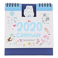 Lịch Để Bàn 2020 (15 x 16cm) - Hình Mèo