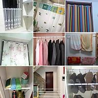 Thanh treo rèm cửa, rèm nhà tắm, thanh treo đa năng không khoan tường, không bắt vít, dễ dàng thay đổi vị trí ( loại đế tròn chuyên dùng cho đồ nhẹ như rèm cửa, khăn, quần áo, tủ quần áo, tạo vách ngăn giá kệ)