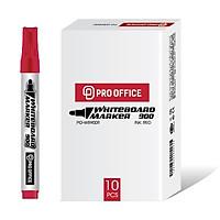 Hộp 10 Bút Lông Bảng Pro Office PP-WB900 - Mực Đỏ