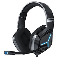 ONIKUMA X9 Wired Headphones Gaming Headset Over-ear Game Headphone Noise Cancelling Earphones with Mic LED Lights for