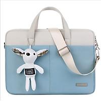 Túi chống sốc laptop macbook kèm gấu bông siêu cute đáng yêu
