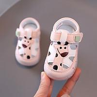 Giày sandal tập đi cho bé gái 0 - 18 tháng họa tiết hươu cao cổ dễ thương TD47