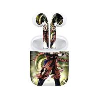 Miếng dán skin chống bẩn cho tai nghe AirPods in hình Songoku Dragon Ball - 7vnr017 (bản không dây 1 và 2)