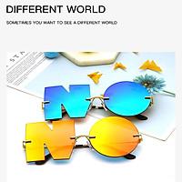Fashion Letter NO Sunglasses Women Metal UV400 Shades Sun Glasses