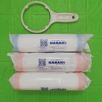 Bộ lõi lọc nước RO 123 Thay cho máy lọc nước Kangaroo, Karofi tặng tay công mở cốc - Chính hãng