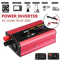 Peak Power 1000W Rated 500W DC 12V/24V To AC 220V Household Car Solar Power Inverter Modified Sine Wave Converter Adapter
