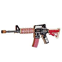 Đồ chơi lắp ghép mô hình 3D gỗ - M16 rifle cắt laser